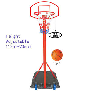 Kids Junior Basketball Hoop Ring Rims System Set Portable Height Adjustable