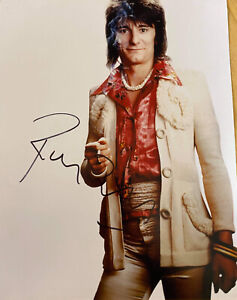 ronnie wood  Hand Signed Photograph