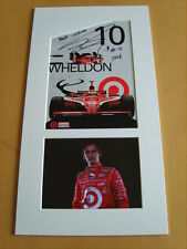 Dan Wheldon Genuine signed authentic autograph UACC / AFTAL