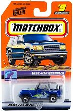 Matchbox #9 1998 Jeep Wrangler With MB 2000 Logo New On Card