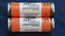 Estate Lot 2005 P&D W Virginia State Quarters -MINT ROLL- 40 coins-UNCIRCULATED!