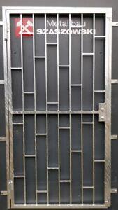Gittertür Feuerverzinkt Einbruchschutz auf Maß - Modell Leiter
