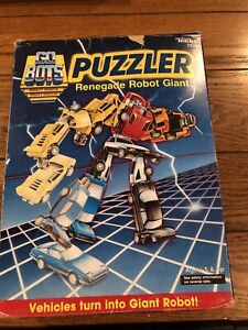 Open box Tonka GoBots Vintage Puzzler Renegade Robot Giant Set w/ Box 1985  -