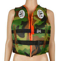 Kids Life Jackets Vest Swimwear With Whistle Camouflage Children Youth Boy Girl