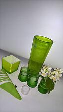 Vase La Vie Teelichte Herz 6 Teile Konvolut in GRUEN