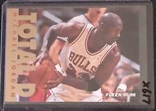MICHAEL JORDAN 1995/96 95 FLEER TOTAL D #3 - CHICAGO BULLS HOF LAST DANCE - X617