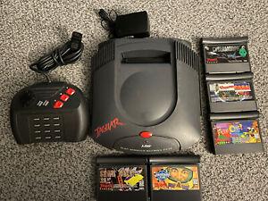 Atari Jaguar Console System Bundle +5 Games, Controller, TESTED