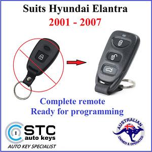 Suits Hyundai Elantra Remote FOB 2001 2002 2003 2004 2005 2006 2007  No key