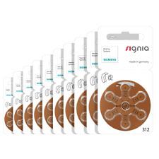 66 x Siemens Signia Hörgerätebatterien 312  PR41  p312MF 1,45V PR41 Batterien