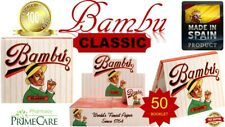 Authentic Bambu CLASSIC Regular World's Finest Rolling Paper 33 Leaves(SPAIN) 50