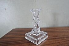 Imperial Glass No 779 Dolphinfish Single Candleholder later version Clear