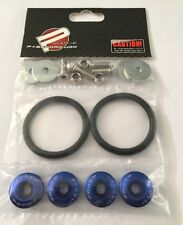 Password JDM Quick Release Aluminium Bumper Fender Fastener Kit (BLUE)