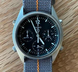 1988 Seiko Gen 1 7a28 7120 Military RAF Pilots Chronograph Watch
