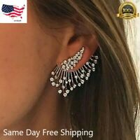 Gorgeous 925 Silver Stud Earrings for Women White Sapphire Jewelry