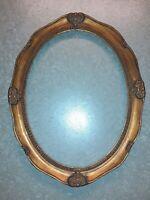 Cornice Ovale classica Legno Foglia Oro Anticata Decori Barocco 30x40 interno