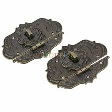 """2.36x3.15"""" Old Style Fire Totem Metal Lock Buckle for Jewelry Box Pack of 2"""