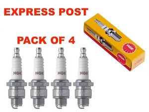 NGK SPARK PLUGS SET BP6EFS-13 X 4 - Holden Commodore VH VC VK BERLINA 3.3 2.8