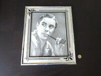 Reverse Painting Frame Glass Art Deco Vintage Mid Century Tyrone Power Photo