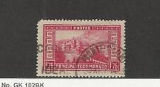 Monaco, Postage Stamp, #124 Used, 1937