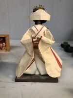 Japanese Brocade Kimono Kabuki Doll Geisha Figure Figurine Statue Home decor