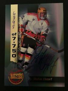 1995 Signature Rookies Signatures Autograph 28 Stefan Ustorf ed/7750