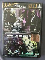 DVD EL FANTASMA DE LA OPERA + JUVENTUD AMBICIOSA Mitos del Cine Susan Hayward