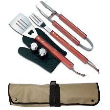 Chef Buddy Outdoor 7-Piece BBQ Apron and Utensil Set