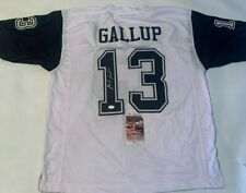 Michael Gallup Autographed Dallas Cowboys Jersey JSA Witnessed COA