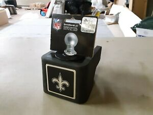 """ShinShield NFL Rubber Trailer Hitch Cover, New Orleans Saints, 2-1/2"""" Ball 1186"""