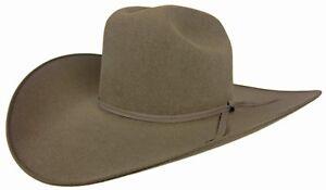 Resistol 6X Jett Cowboy Hat Stone Gray 7 1/8 Oval 4 1/4 Brim