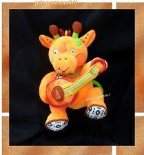 Doudou Peluche Girafe Babymoov Hochet Orange Et Jaune Guitare