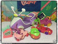 Littlest Pet Shop Motorized Lot BLYTHE SCOOTER/CAR/PLANE VEHICLES ACCESSORIES 2