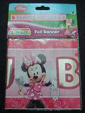 5 x 90cm Minnie Mouse Club House Buon Compleanno Muro banner striscioni