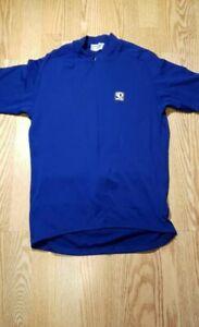 Pearl Izumi Men's Cycling Shirt Jersey Medium Biking NICE Blue Pockets Zip