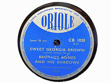 BROTHER BONES - Sweet Georgia Brown / Margie 78 rpm disc (A++)