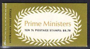 Australia Post Prime Ministers Booklet $0.70 10 x 7c Joseph Cook & SM Bruce