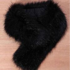 Women's Fluffy Winter Faux Fur Collar Scarf Scarves Shawl Wrap Stole Pelage