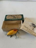 Vintage Clark Water Scout Streamliner Old Fishing Lures Junior With Box Wood