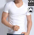 3-6 Pack Mens 100% Cotton Tagless Crew Round V-Neck T-Shirt Undershirt Tee White