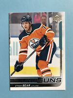 2018-2019 Upper Deck Young Guns Ethan Bear #479 Hockey Card Edmonton Oilers
