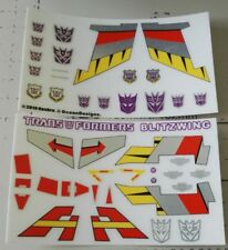 Ocean X Hasbro Decal Sticker For Robot Triple Changers Blitzwing