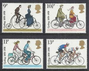 MINT 1978 GB CYCLING STAMP SET OF 4