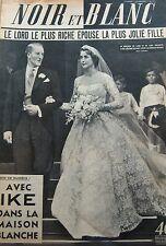 MARIAGE LORD et LADY DALKEITH en COUVERTURE de NOIR et BLANC No 413 de 1953