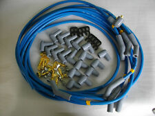 SPARK PLUG LEAD SET 9 MM BLUE 45 DEGREE UNIVERSAL HOLDEN CHEV FORD CHRYSLER ETC