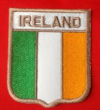 IRELAND IRISH EIRE COUNTRY FLAG BADGE IRON SEW ON PATCH CREST ST PATRICK