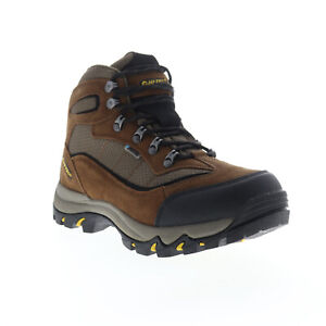 Hi-Tec Skamania WP 7198 Mens Brown Suede Lace Up Hiking Boots