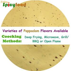 Indian Papadums Poppadoms Papads Poppadums Papadams Lentil Crackers All Flavours