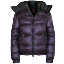 BURBERRY SPORT purple technical padded down puffer coat hooded ski jacket XL