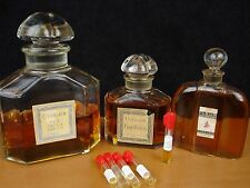 Vintage, 5 X 1/4ML Samples Guerlain Extrait Lavande, Guerlarose, Gardenia etc