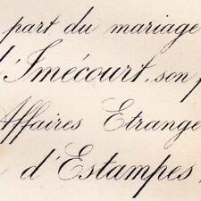 Stanislas De Vassinhac D'Imecourt 1878 Marie D'Estampes
